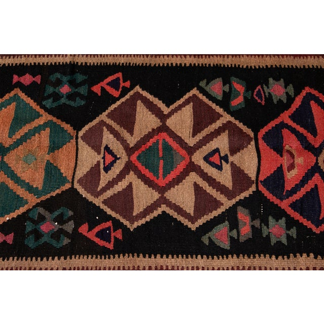 "Mid-20th Century Vintage Kilim Runner Rug 5' 1"" X 12' 2''. For Sale - Image 10 of 13"