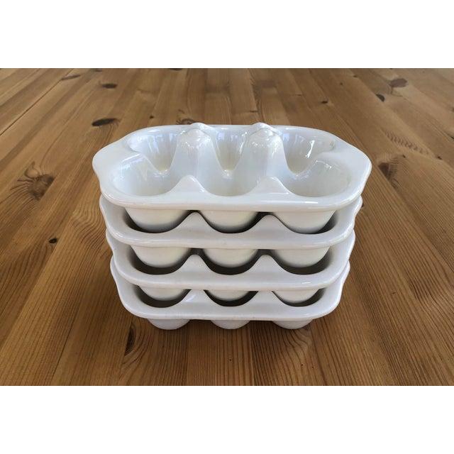 Italian Ceramic Egg Cartons - Set of 4 For Sale In Charlotte - Image 6 of 12