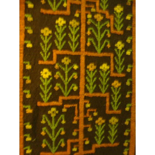 Mid-Century Woven Wool Tapestry - Image 3 of 6