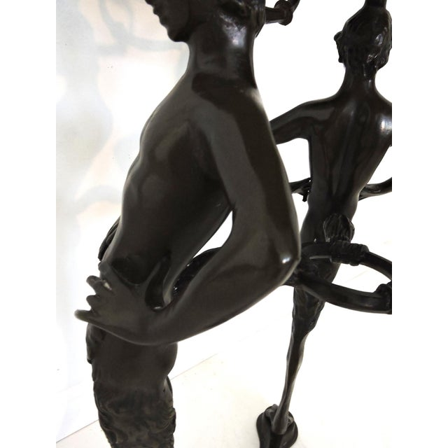 Belle Epoque Magnificent Classical Italian Style Bronze 'Satyr' Planter / Brazier For Sale - Image 3 of 9