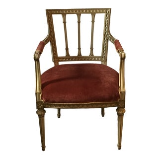 Louis XVI Style Arm Chair For Sale