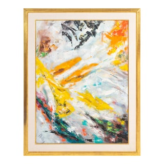 Original Abstract Expressionist Oil Painting by John DeKay For Sale
