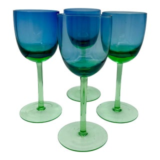 Vintage Block Festival Wine Glasses For Sale