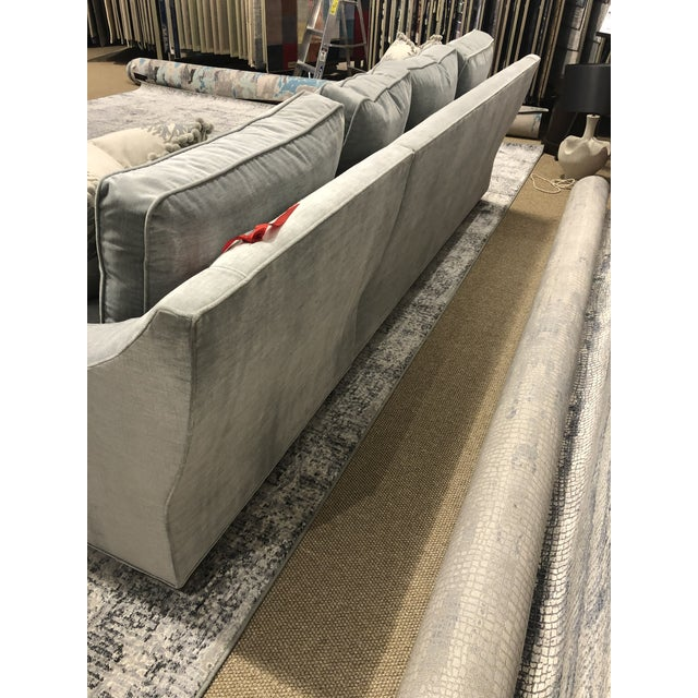Swaim Factory Transitional 2-Pc Sectional with Pillows For Sale - Image 9 of 12