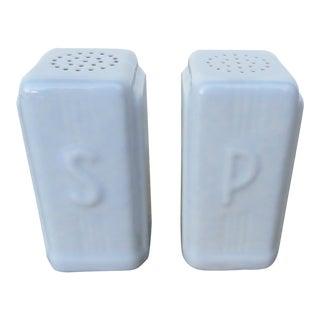 Art Deco White Glaze Porcelain Salt & Pepper Shakers For Sale