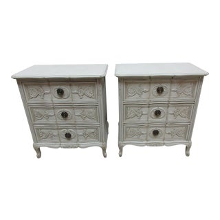Swedish Rococo Style Nightstands - a Pair For Sale