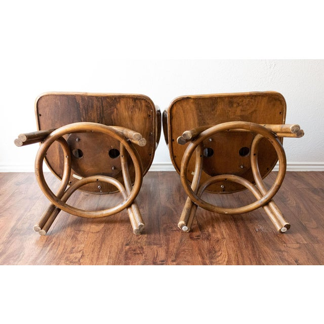 1960s Boho Chic Brown Jordan Rattan Swivel Chairs - a Pair For Sale In Dallas - Image 6 of 13