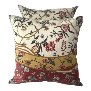 Brunschwig Fils Floral Pillow Covers - A Pair