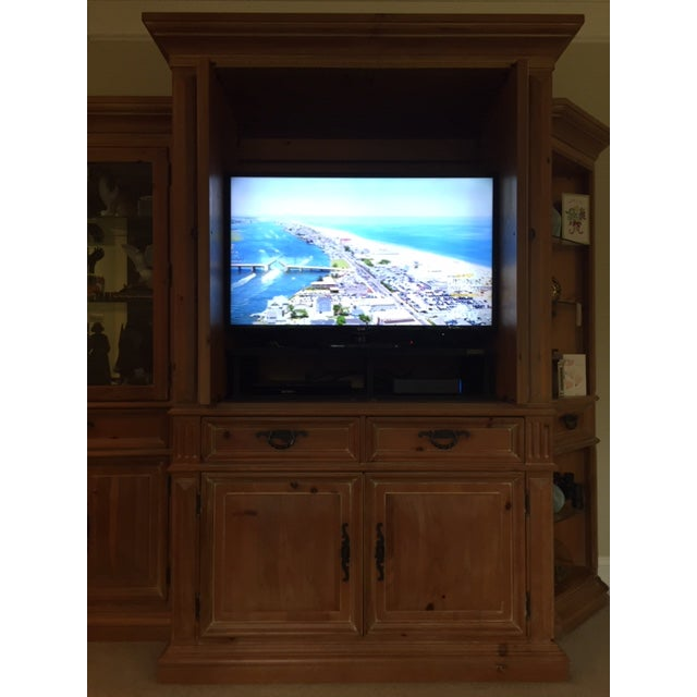 Mediterranean Thomasville Santiago Entertainment Center / Armoire For Sale - Image 3 of 11
