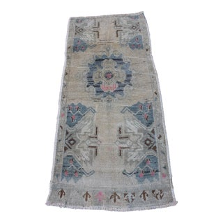 "Vintage Ori̇ental Turki̇sh Small Rug - 1'8"" x3'9"" For Sale"
