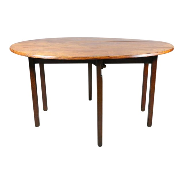 George III Mahogany Drop-Leaf Hunt Table For Sale