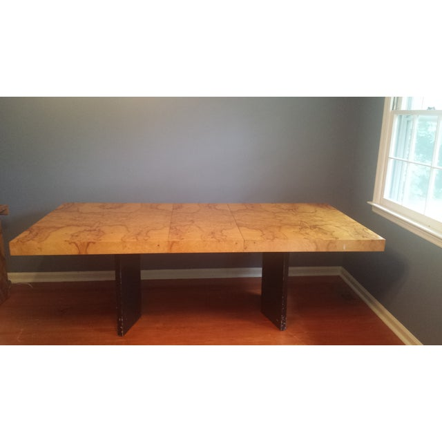 Milo Baughman-Attributed Burl Dining Table - Image 3 of 11