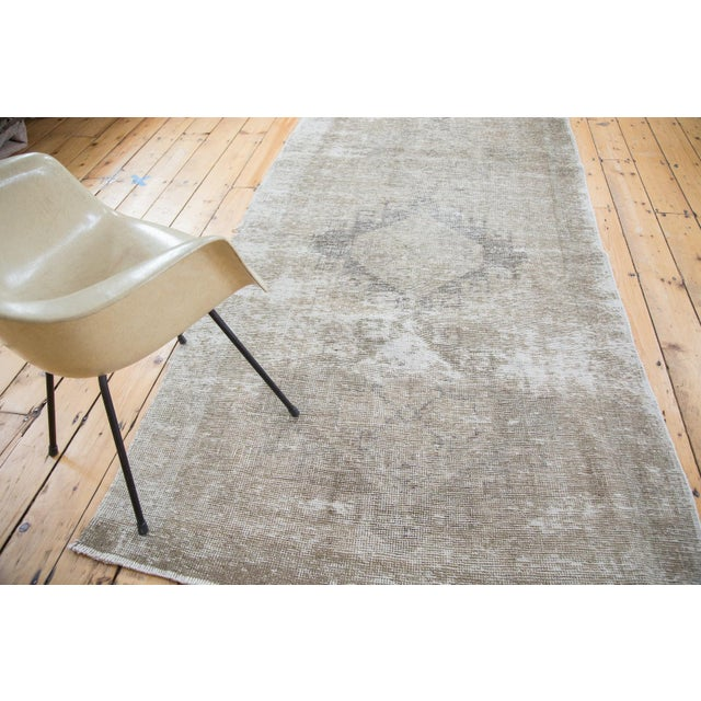 "Distressed Oushak Runner - 4'4"" X 12'9"" - Image 7 of 9"