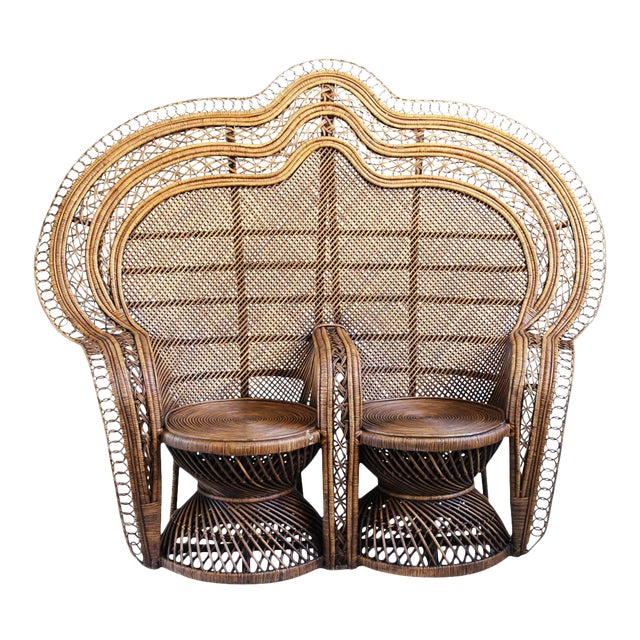 Double Plantation Peacock Chair For Sale
