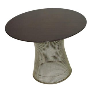 Warren Platner for Knoll Wire and Walnut End Table For Sale