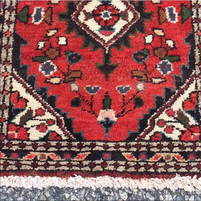 Vintage Hamadan Persian Rug - 1′8″ × 2′1″ - Image 4 of 9