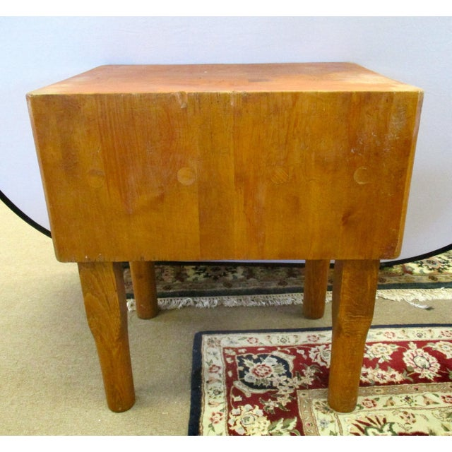 Vermont Maple Butcher Block Table For Sale - Image 4 of 5