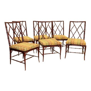 Woodbridge Furniture Faux Bamboo Brighton Side Chairs - Set of 6