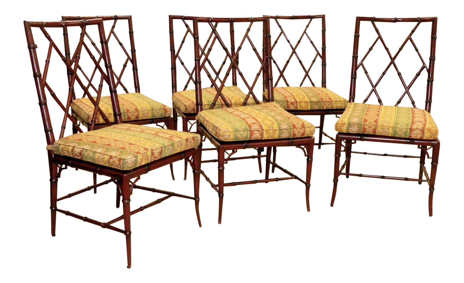 Woodbridge Furniture Faux Bamboo Brighton Side Chairs   Set Of 6