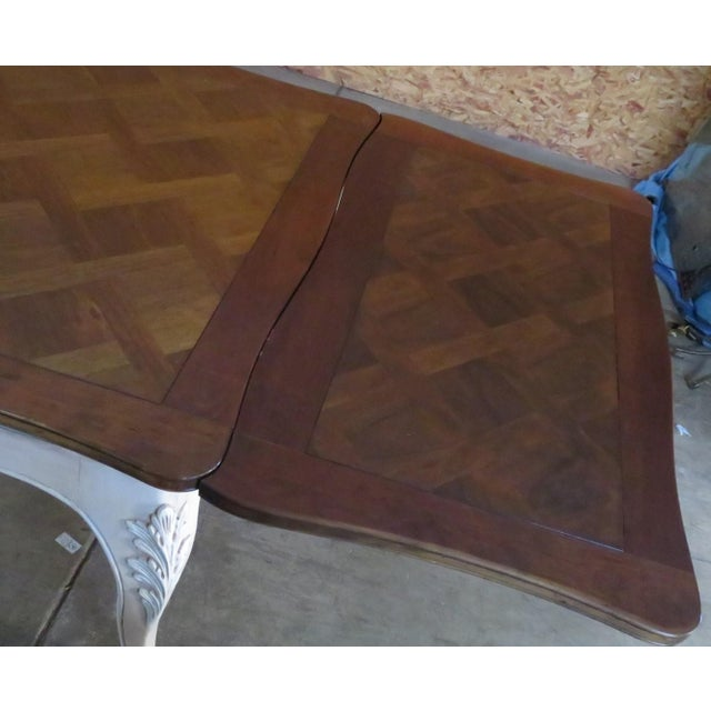 French Country French Parquetry Top Refractory Dining Table For Sale - Image 3 of 8