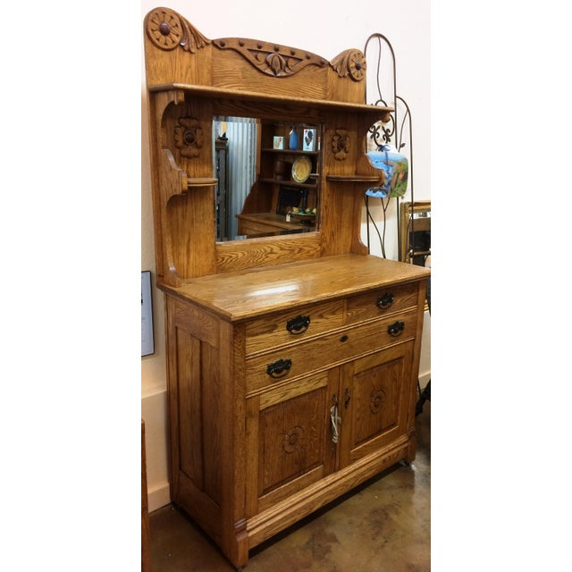 Vintage Oak Buffet - Image 3 of 6