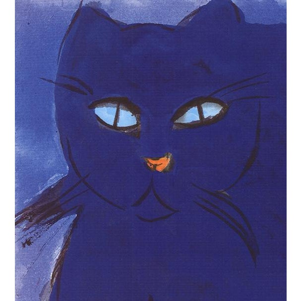 """""""Blue Cat"""" Walasse Ting Lithograph For Sale - Image 4 of 5"""