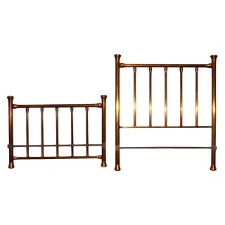 Brass Headboard & Footboard - A Pair For Sale