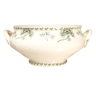 Antique French Transferware Tureen For Sale