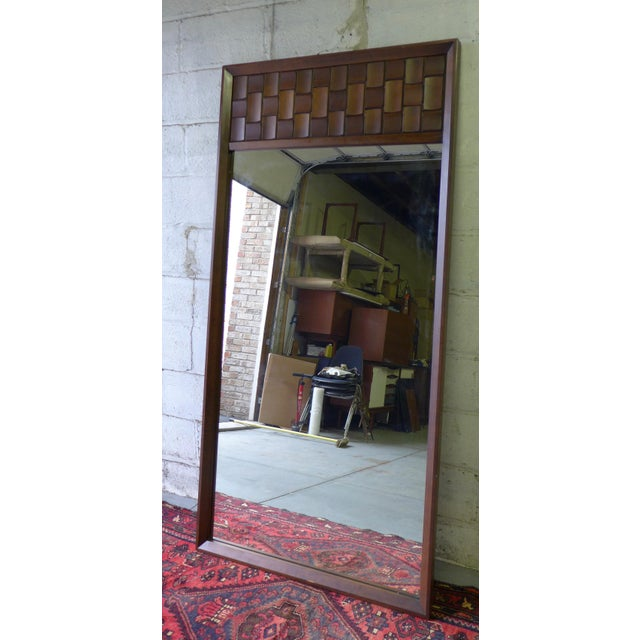 Mid-Century Modern Brutalist Mirror For Sale - Image 4 of 5