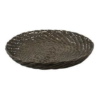 Kenneth Ludwig Chicago Monteverde Thick Weave Rattan Bowl For Sale