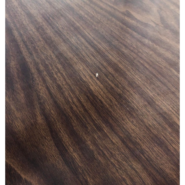 Mid-Century Modern Dining Table With Leaf For Sale - Image 9 of 11