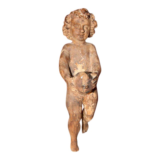 Italian Carved Cherub For Sale