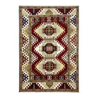 One-Of-A-Kind Traditional Hand-Knotted Area Rug, Red, 5' 9 X 8' 1 For Sale