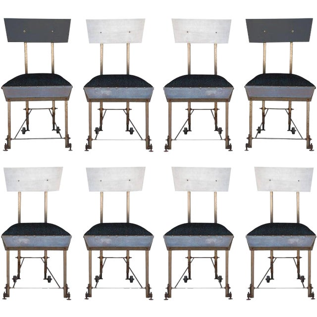Set of 8 One-Of-A-Kind Modernist Dining Chairs For Sale