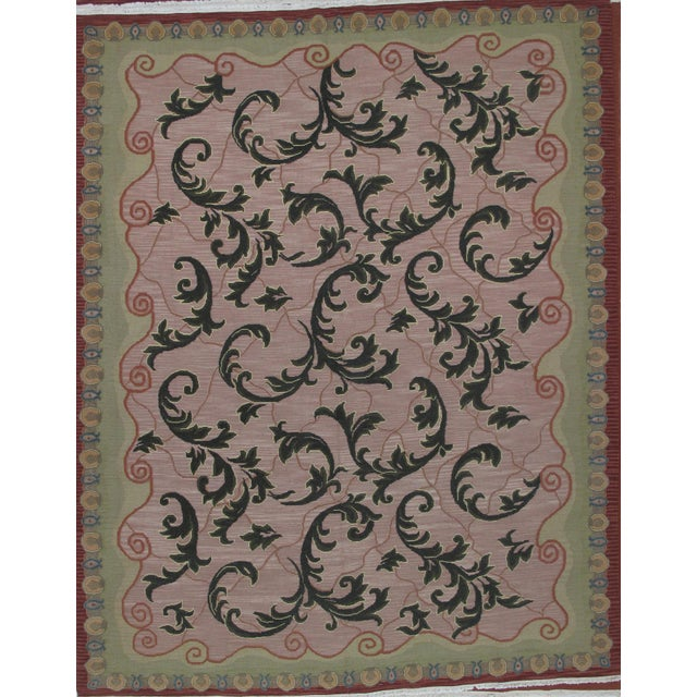 Soumak Design Hand Woven Wool Rug - 8' X 10' - Image 6 of 6