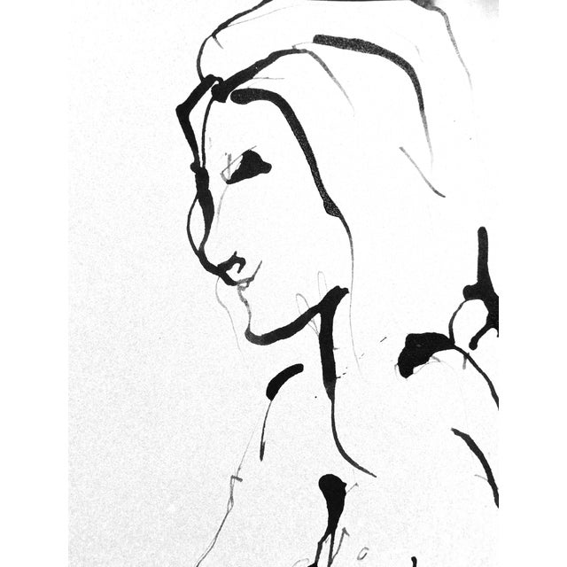 The Conversation Ink Drawing - Image 6 of 7