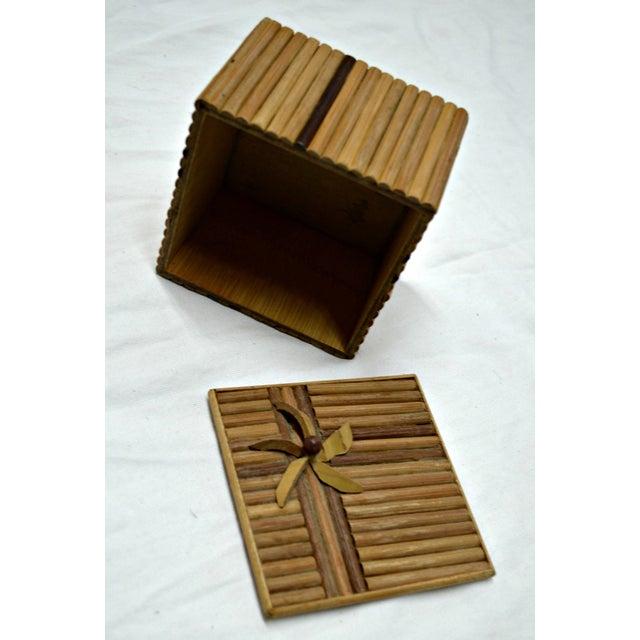 Rustic Wooden Stick Cigarette Box - Image 5 of 9