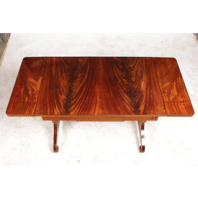 Hollywood Regency 1930s Regency-Style Library Table For Sale - Image 3 of 7