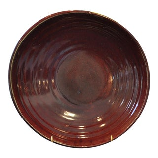 1960s Vintage Franz Kriwanek Oxblood Stoneware Bowl For Sale