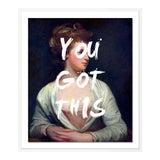 Image of You Got This by Lara Fowler in White Framed Paper, Small Art Print For Sale