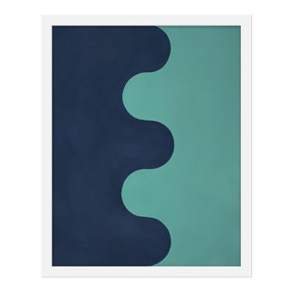 "Small ""Hairpin Serpentine in Blues"" Print by Stephanie Henderson, 16"" X 20"""