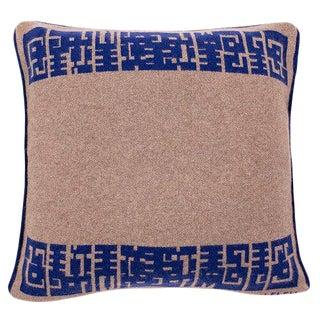 Maison Leleu - Azteque Blue Cashmere Pillow For Sale