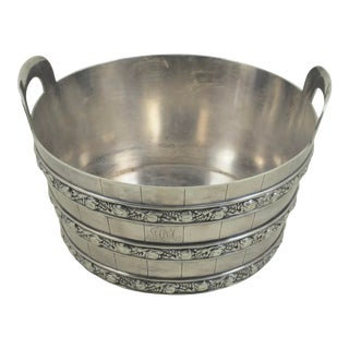 Antique Tiffany & Co Silver Plated Ice Bucket For Sale