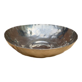 Hand Hammered Pewter Bowl For Sale