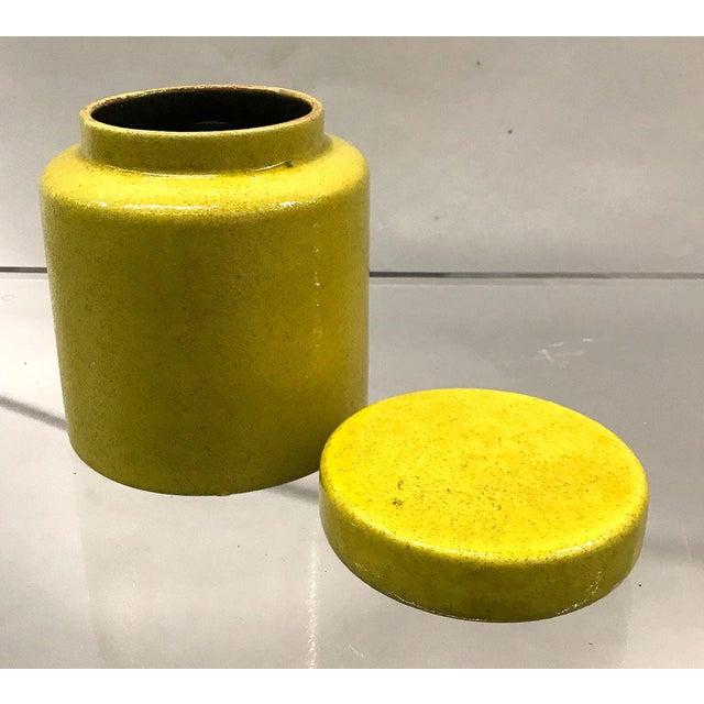 Bitossi Mid-Century Italian Bitossi Lidded Jar For Sale - Image 4 of 8