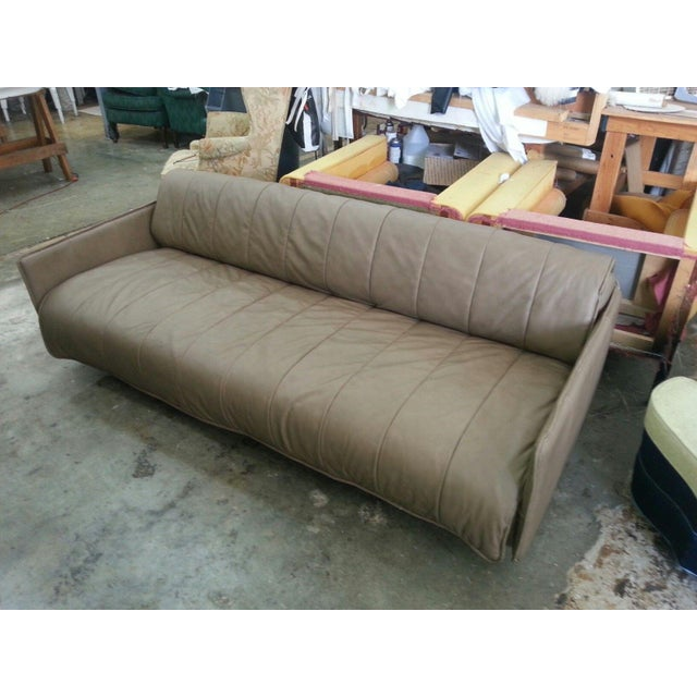 1986 Mid-Century Modern De Sede Leather Sofa For Sale - Image 10 of 12