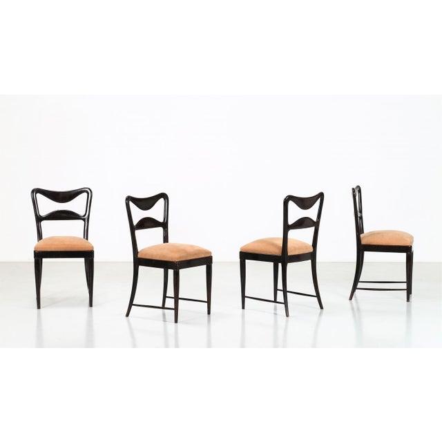 Mahogany Osvaldo Borsani Dining Chairs Set From 1940 For Sale - Image 7 of 7