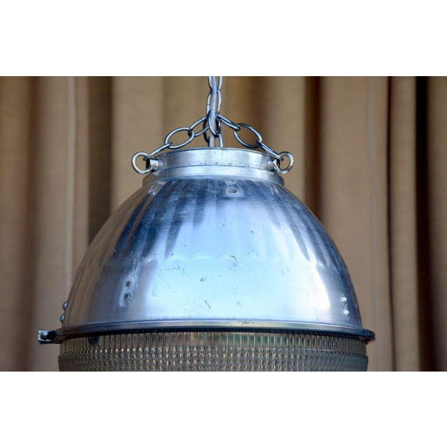 Mid 20th Century Single Hanging Pendant Industrial Street Light For Sale - Image 5 of 8