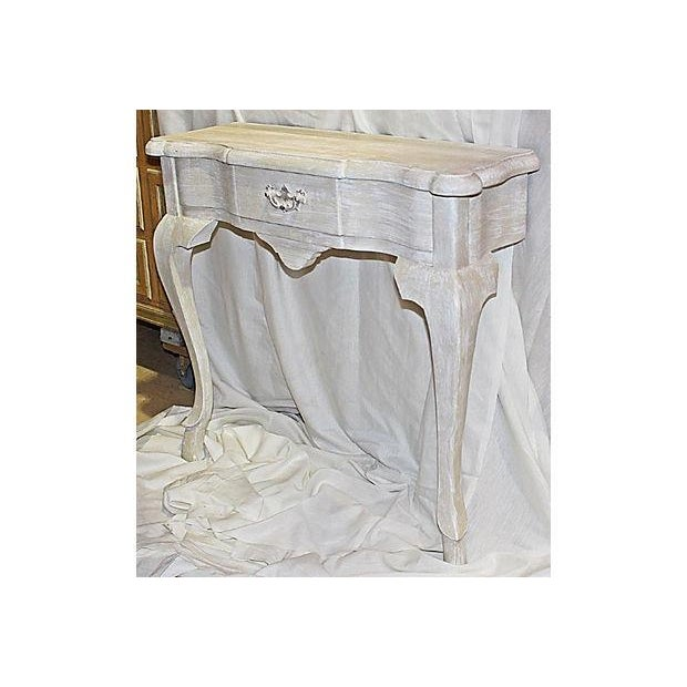 Newly painted in a faux effect with Annie Sloan paint and matching wax finish, solid pine Queen Anne style one drawer...