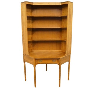 Ethan Allen Heirloom Maple Nutmeg Crp Corner Desk W. Bookcase Hutch